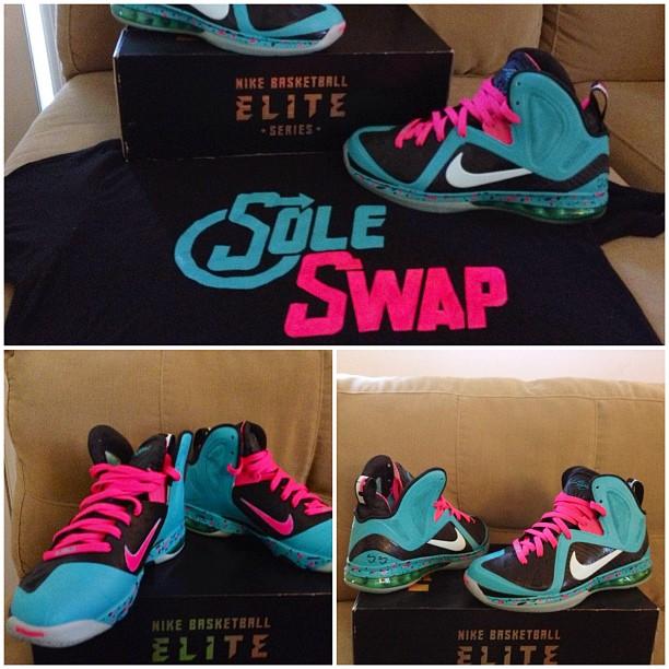 Nike LeBron 9 PS Elite South Beach Sole Swap Custom  532a694cc