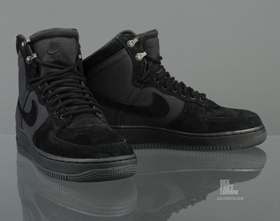nike air force 1 high top black