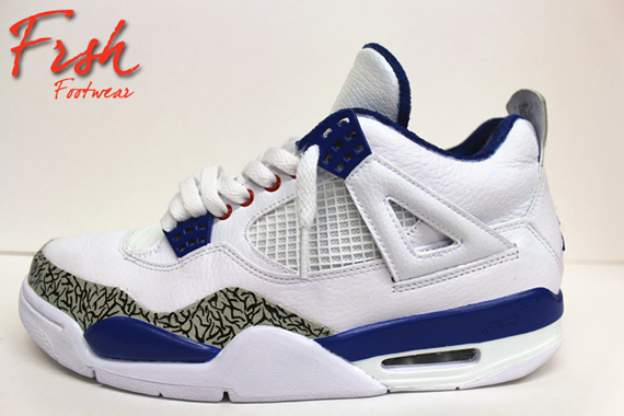 "Air Jordan IV ""Pure Blue"" Customs By FRSH Footwear  2aded4821"