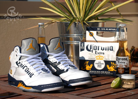 "Air Jordan V ""Corona"" Customs by Revive  6aab1c349"